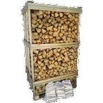Ovntørret birk 1,8m3 pejsebrænde
