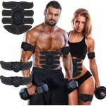 Abdominal Toning Belt EMS Abs Trainer 6-pack Unisex - Black 6-pack