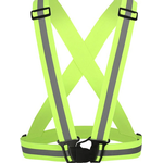 Reflective Cycling Safety Vest - Fluorescent Green