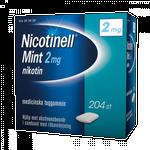 Håndkøbsmedicin Nicotinell Mint 2mg 204stk