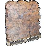 Ovntørret pejsebrænde bl. løv i sække 1.25m3
