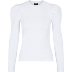 Pieces Puff Sleeve long Sleeved Bluse - Bright White