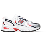New Balance 530 - Nb White with Velocity Red