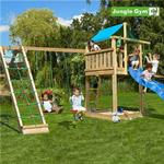 Jungle Gym Play Tower Complete Lodge Incl Slide