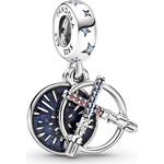 Pandora Star Wars Lightsaber Double Dangle Charm - Silver/Multi