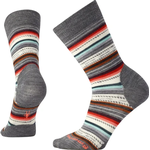 Smartwool Women's Margarita Socks - Medium Gray Heather/Bright Coral
