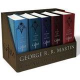 Science Fiction & Fantasy Bøger George R. R. Martin's a Game of Thrones Leather-Cloth Boxed Set (Song of Ice and Fire Series): A Game of Thrones, a Clash of Kings, a Storm of Swords, (Häftad, 2015), Häftad, Häftad