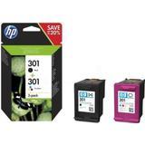 Blæk og toner HP 301 (N9J72AE) 2-pack (Black)