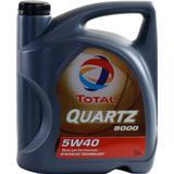 Biludstyr Total Quartz 9000 5W-40 5L Motorolie