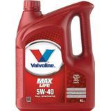 5w40 Biludstyr Valvoline MaxLife Synthetic 5W-40 4L Motorolie