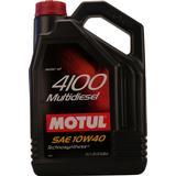 10w40 Biludstyr Motul 4100 Multidiesel 10W-40 5L Motorolie