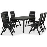 Havemøbel sæt/grupper Havemøbler Keter Melody 1 Table 160.5x94.5cm incl.6 Chairs Havemøbelsæt, 1 borde inkl. 6 stole