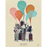 Plakater - By Michelle Carlslund My City 50x70cm Plakater