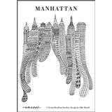 By - Vægdekoration Olle Eksell Manhattan Canvas 50x70cm Plakater