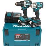 Multigear - Bore-/skruemaskinesæt Makita DLX2184TJ (2x5.0Ah)