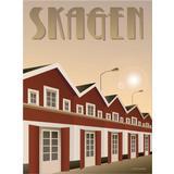 By - Vægdekoration Vissevasse Skagen Havnen 30x40cm Plakater