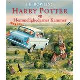 Dansk - Børnebøger Harry Potter og Hemmelighedernes Kammer: Illustreret udgave, Hardback