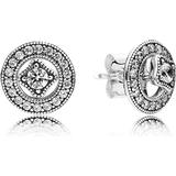 Øreringe Pandora Vintage Allure Silver Earrings w. Cubic Zirconia (290721CZ)