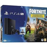 Playstation 4 - 2160p (4k Ultra HD) Spillekonsoller Sony PlayStation 4 Pro 1TB - Fortnite