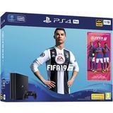 Playstation 4 - 2160p (4k Ultra HD) Spillekonsoller Sony PlayStation 4 Pro 1TB - FIFA 19