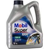 Mineralolie Biludstyr Mobil Super 1000 X1 15W-40 4L Motorolie