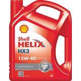 15w40 Biludstyr Shell Helix HX3 15W-40 4L Motorolie