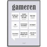 Plakater Dialægt Gameren 50x70cm Plakater