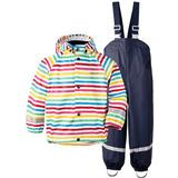 Regntøj Børnetøj Didriksons Slaskeman Printed Kids Set - Rainbow Simple Stripe (502369-947)