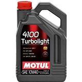 10w40 Biludstyr Motul 4100 Turbolight 10W-40 5L Motorolie