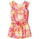 Flæse kjole Børnetøj Mayoral Floral Chiffon Dress - Coral (29-06925-025)