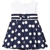 Flæse kjole Børnetøj Mayoral Polka Dot Dress - Navy (416094)