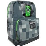 Tasker Minecraft Creepy Creeper Backpack - Grey