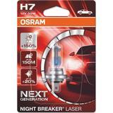 H7 55w Pærer Osram H7 Night Breaker Laser Halogen Lamps 55W PX26d