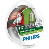 H7 55w Pærer Philips H7 LongLife EcoVision Halogen Lamps 55W PX26d 2-pack