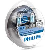 H7 55w Pærer Philips H7 WhiteVision Ultra Halogen Lamps 55W PX26d 2-pack