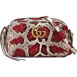 Håndtasker - Dame Gucci Marmont Small Python Shoulder Bag - Red/Grey