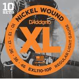 Tilbehør til musikinstrumenter D'Addario EXL110-10P