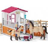 Schleich hestestald Legesæt Schleich Horse Stall with Arab Horses & Groom 42369