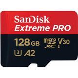 Hukommelseskort SanDisk Extreme Pro microSDXC Class 10 UHS-I U3 V30 A2 170/90MB/s 128GB +Adapter