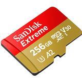 Hukommelseskort SanDisk Extreme microSDXC Class 10 UHS-I U3 V30 A2 160/90MB/s 256GB +Adapter