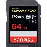 Hukommelseskort SanDisk Extreme Pro SDXC Class 10 UHS-I U3 V30 170/90MB/s 64GB