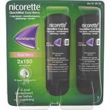 Nikotinspray Håndkøbsmedicin Nicorette Quickmist Cool Berry Duo 1mg 2stk