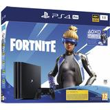 Spillekonsoller Sony PlayStation 4 Pro 1TB - Fortnite Neo Versa Bundle
