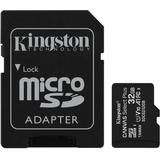Hukommelseskort & USB-stick Kingston Canvas Select Plus microSDHC Class 10 UHS-I U1 V10 A1 100MB/s 32GB +Adapter