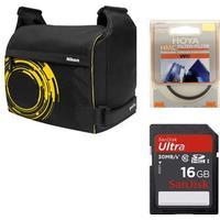 Nikon SLR kit Golla m 16 Gb SD & 55 mm UV-filter.
