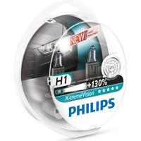 Philips Xtreme Vision H1 pære +130% mere lys (2 stk)