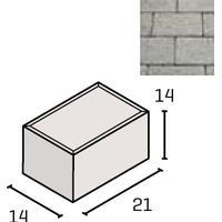 IBF SF-Klostersten kantblok 14 x 21 x 14 cm i grå