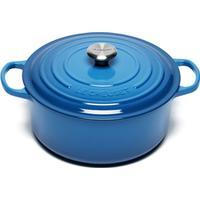Le Creuset Marseille Blue Signature Cast Iron Round Gryde med låg 28cm