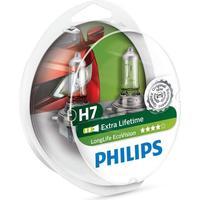 PHILIPS Bilpære H7 ECOVISION (LONGLIFE) - 2-PAK