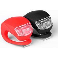 TILBUD: Få 3 sæt, betal for 2. Urban Lights Cykellygter (LED), kompakt og kraftfuldt lygtesæt lavet af silicon